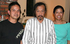 Celina with Sifu Ray Carbullido and Uncle Faustino